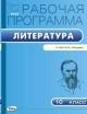 Литература 10 кл. Рабочая программа к УМК Лебедева